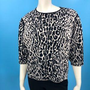 NWT Ann Taylor Women's M Animal Print Sweater